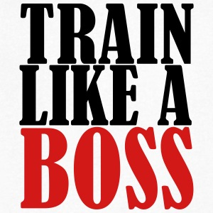 Train Like a Boss - Men's V-Neck T-Shirt by Canvas