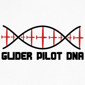dna glider pilot - Men's V-Neck T-Shirt by Canvas