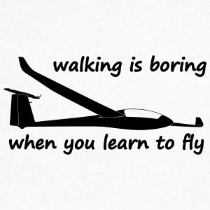 walking is boring when you learn to fly usa - Men's V-Neck T-Shirt by Canvas