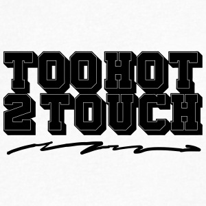 Too Hot To Touch - Men's V-Neck T-Shirt by Canvas