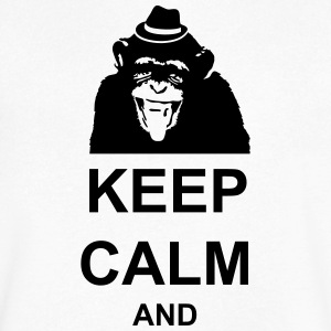 KEEP CALM MONKEY CUSTOM TEXT - Men's V-Neck T-Shirt by Canvas