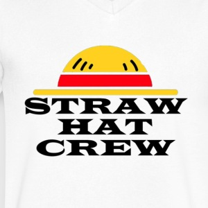 Straw Hat Crew - Men's V-Neck T-Shirt by Canvas
