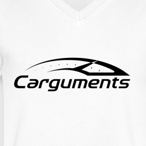 CARGUMENTS Black and White - Men's V-Neck T-Shirt by Canvas