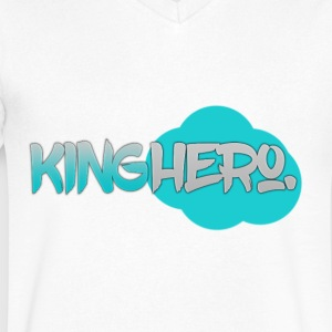 King Hero. Teal (E&K) - Men's V-Neck T-Shirt by Canvas