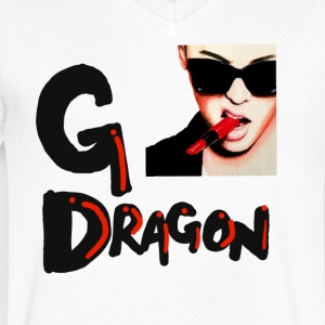 GDragon - Men's V-Neck T-Shirt by Canvas