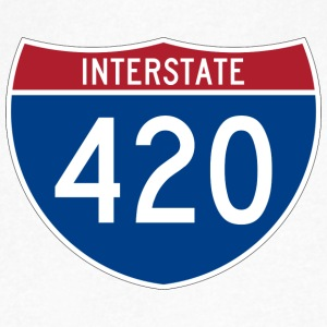 Interstate 420 - Men's V-Neck T-Shirt by Canvas