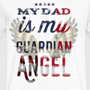 My Dad is my Guard angel - Men's V-Neck T-Shirt by Canvas