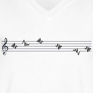Music cardiogram - Men's V-Neck T-Shirt by Canvas
