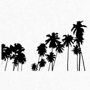 Palm trees - Men's V-Neck T-Shirt by Canvas