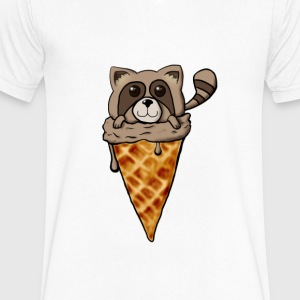 Tanuki Ice Cream - Men's V-Neck T-Shirt by Canvas