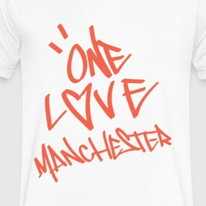 one love manchester - Men's V-Neck T-Shirt by Canvas