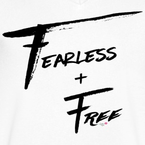 Fearless and Free - Men's V-Neck T-Shirt by Canvas