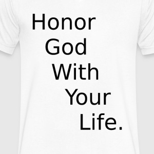 HOnor - Men's V-Neck T-Shirt by Canvas