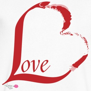 Love - Men's V-Neck T-Shirt by Canvas