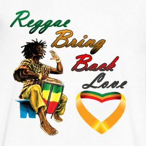 Reggae Bring Back Love - Men's V-Neck T-Shirt by Canvas