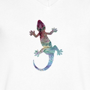 Gecko - Men's V-Neck T-Shirt by Canvas