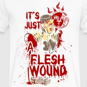 The wounded knight - it's just a flesh wound - Men's V-Neck T-Shirt by Canvas
