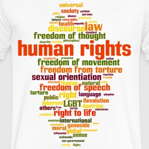 human rights - Men's V-Neck T-Shirt by Canvas