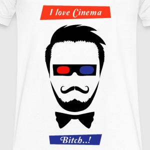 i love cinema... - Men's V-Neck T-Shirt by Canvas