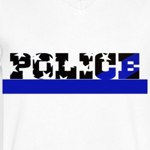 Police - Men's V-Neck T-Shirt by Canvas