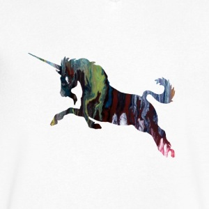 Unicorn - Men's V-Neck T-Shirt by Canvas