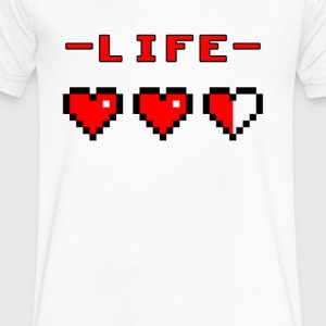 life bar retro games - Men's V-Neck T-Shirt by Canvas