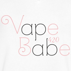 Vape Babe 420 - Men's V-Neck T-Shirt by Canvas