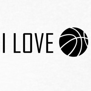 I Love Basketball - Men's V-Neck T-Shirt by Canvas