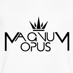 MOCC Magnum Opus BLK - Men's V-Neck T-Shirt by Canvas