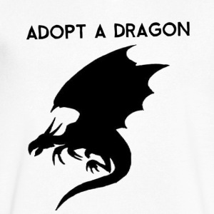 Adopt a Dragon - Men's V-Neck T-Shirt by Canvas
