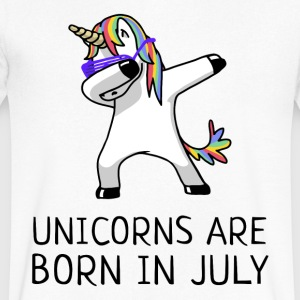 Unicorns are Born in July Dabbing - Men's V-Neck T-Shirt by Canvas
