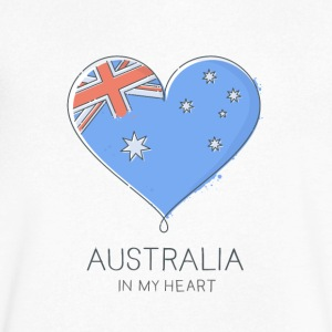 Australia In My Heart - Men's V-Neck T-Shirt by Canvas