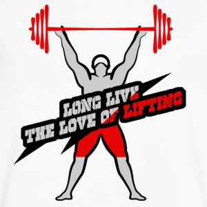 Long Live The Love Of Lifting - Men's V-Neck T-Shirt by Canvas