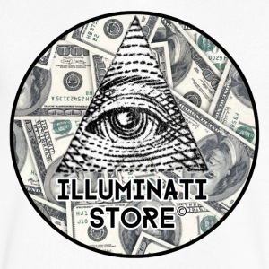 Illuminati Store LOGO! - Men's V-Neck T-Shirt by Canvas