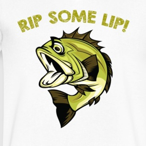 Fish rip some lip - Men's V-Neck T-Shirt by Canvas