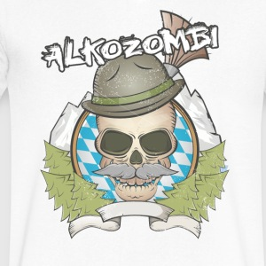 Alkozombie - Men's V-Neck T-Shirt by Canvas