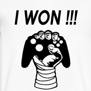 I WON - Men's V-Neck T-Shirt by Canvas