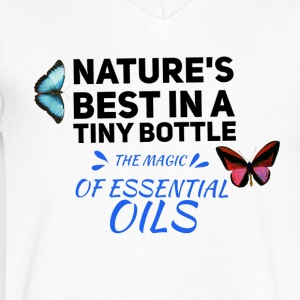 natures best in a tiny bottle, essential oils - Men's V-Neck T-Shirt by Canvas