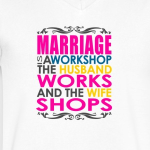Marriage Joke - Men's V-Neck T-Shirt by Canvas