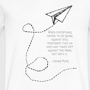Paper Planes - Men's V-Neck T-Shirt by Canvas