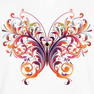 Fantasy Art Floral Butterfly - Men's V-Neck T-Shirt by Canvas