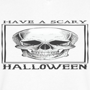 halloween skull - Men's V-Neck T-Shirt by Canvas