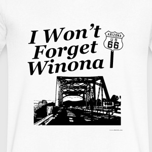 I Won't Forget Winona on 66 - Men's V-Neck T-Shirt by Canvas