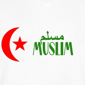 MUSLIM - Men's V-Neck T-Shirt by Canvas