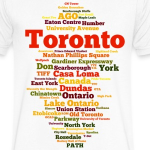 Toronto (T.O. Ontario, Canada) - Men's V-Neck T-Shirt by Canvas