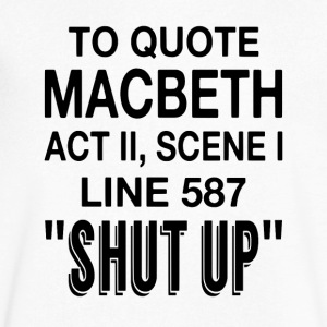 To Quote Macbeth - Men's V-Neck T-Shirt by Canvas