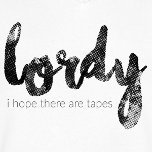 I Hope There Are Tapes - Men's V-Neck T-Shirt by Canvas
