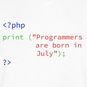Programmers Month - Men's V-Neck T-Shirt by Canvas