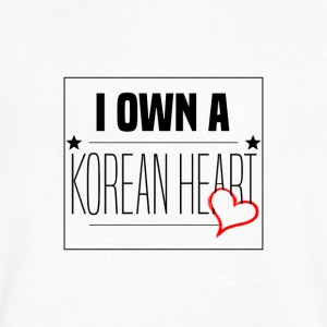 I Own A Korean Heart Desing - Men's V-Neck T-Shirt by Canvas
