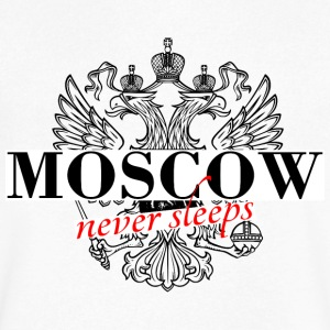 Moscow never sleeps - Men's V-Neck T-Shirt by Canvas